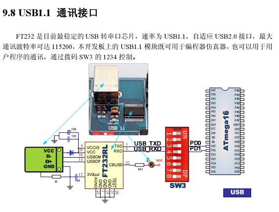 FT232 应用电路