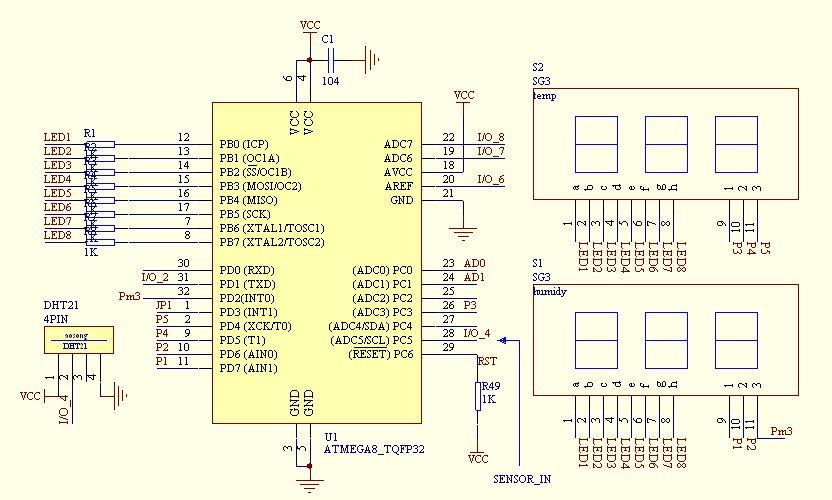 温湿度传感器电路图