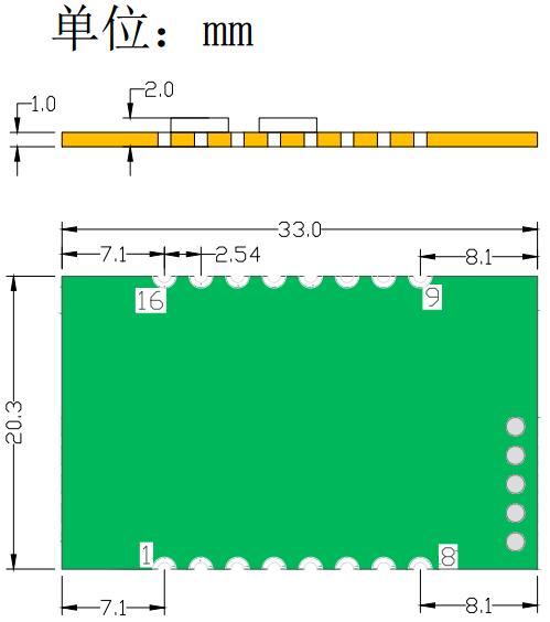 USR-TCP232-S2尺寸图