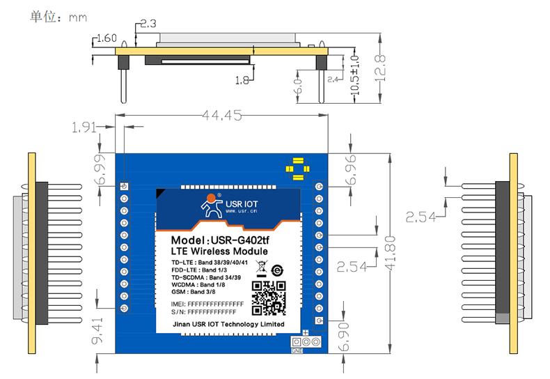USR-LTE-7S4尺寸图