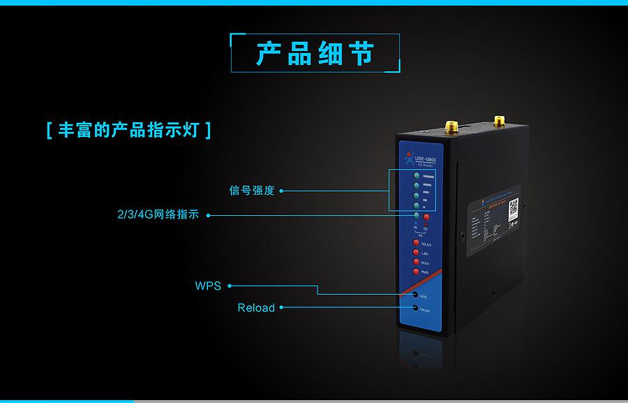 4G工业无线路由器产品细节