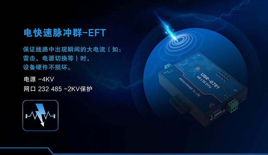 4G DTU_ 路由器的电快速脉冲群EFT