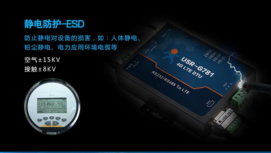 4G DTU_ 路由器的静电防护ESD