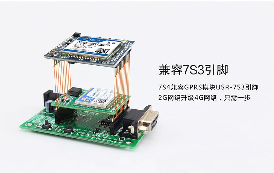 串口转4G模块与7S3引脚兼容