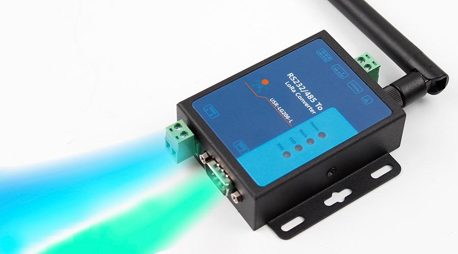 LoRa数传终端USR-LG206串口自由选择