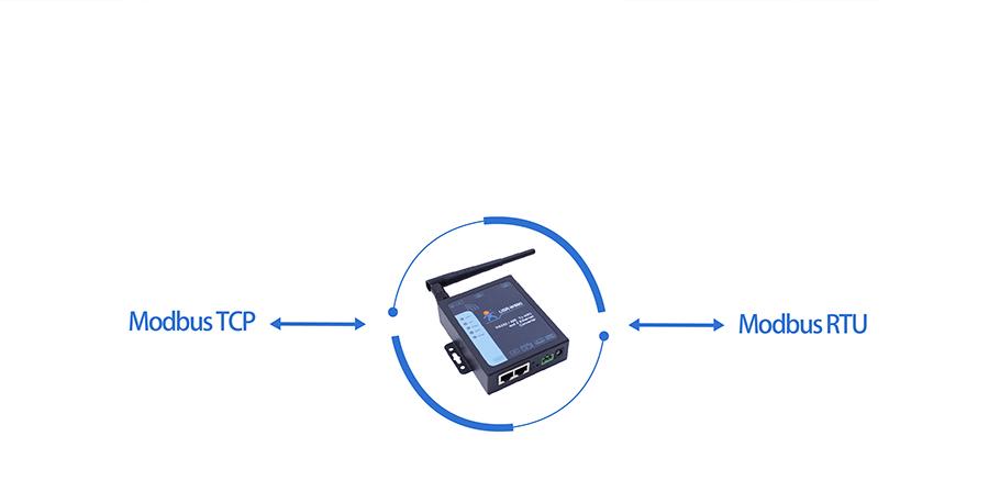 RS232/485双网口WIFI串口服务器的支持modbus网关