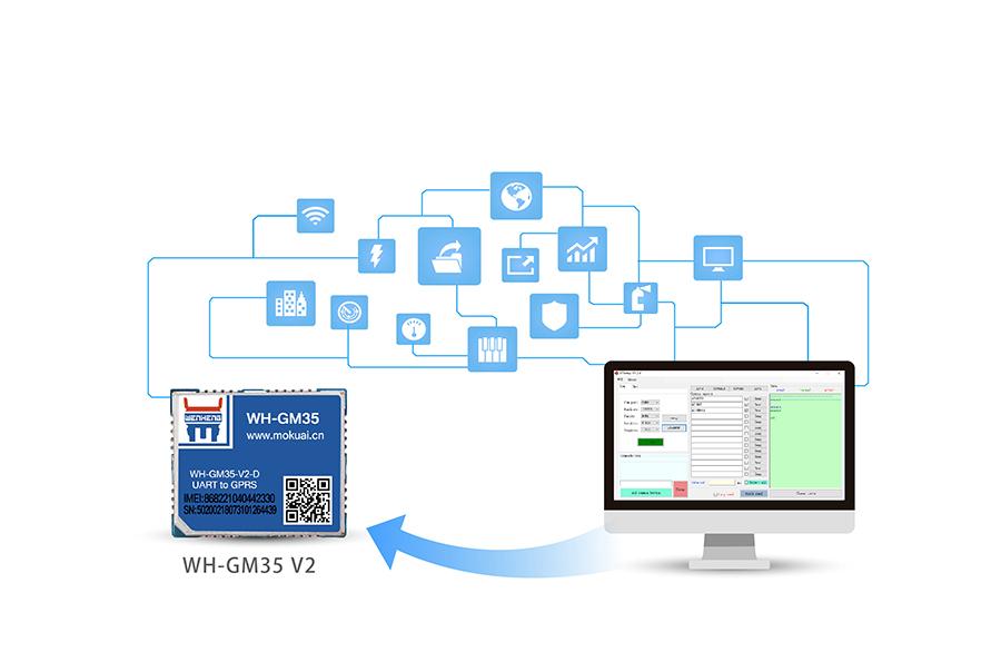 GPRS透传模块_gprs dtu通讯模块标准AT指令