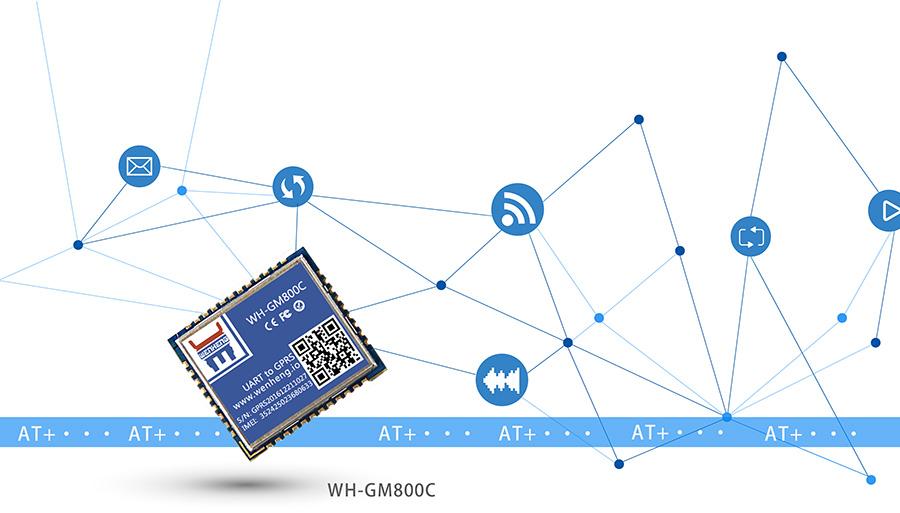 超小体积AT指令GPRS无线通讯模块标准AT指令